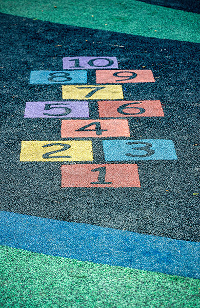 An image of colorful number on playground